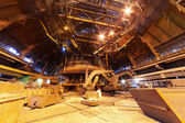 Panorama of blast furnace workshop — Stock Photo