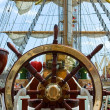 Old ship wheel — Stock Photo