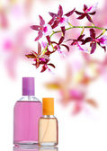 Perfume and orchid — Stock Photo