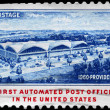 USA - CIRCA 1960 Automated Post Office - Zdjęcie stockowe