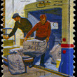 USA - CIRCA 1973 Loading Mail - Stock Photo