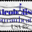 USA - CIRCA 1981 Alcoholism — Stock Photo