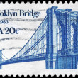 USA - CIRCA 1983 Brooklyn Bridge — Stock Photo