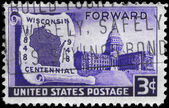 USA - CIRCA 1948 Wisconsin Statehood — Stock Photo