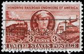Usa - ok. 1950 inżynierów kolejowych — Zdjęcie stockowe