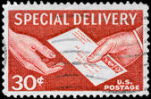 USA - CIRCA 1957 Special Delivery — Stock Photo