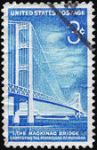 USA - CIRCA 1958 Mackinac Bridge — Stock Photo