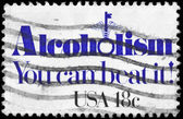 USA - CIRCA 1981 Alcoholism — Stock Photo
