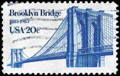 美国-大约 1983年布鲁克林桥 — 图库照片