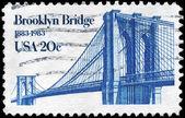 USA - CIRCA 1983 Brooklyn Bridge — Foto de Stock