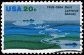 Eua - por volta de 1984 saint lawrence seaway — Foto Stock