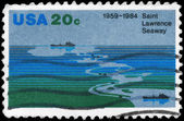 USA - CIRCA 1984 Saint Lawrence Seaway — Foto Stock
