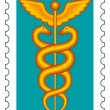 Caduceus stamp - Image vectorielle