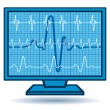 Cardiogram monitor — Stock Vector