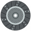 Clutch disk - Stock Vector