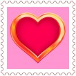 Gold Heart Stamp — Stock Vector #10040432