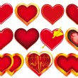 Collection of Hearts — Stock Vector #10040439