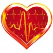 heart pulse — Stock Vector