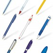Pens collection — Stock Vector
