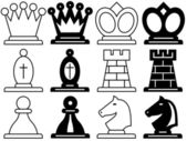 Chess symbols — Stock Vector