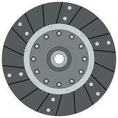 Clutch disk — Stock Vector