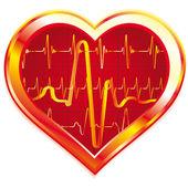 Pulso del corazón — Vector de stock