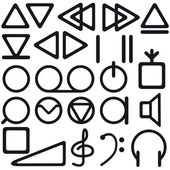 Tape recorder symbols — Stock Vector