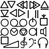 Tape recorder symbols — Stock Vector