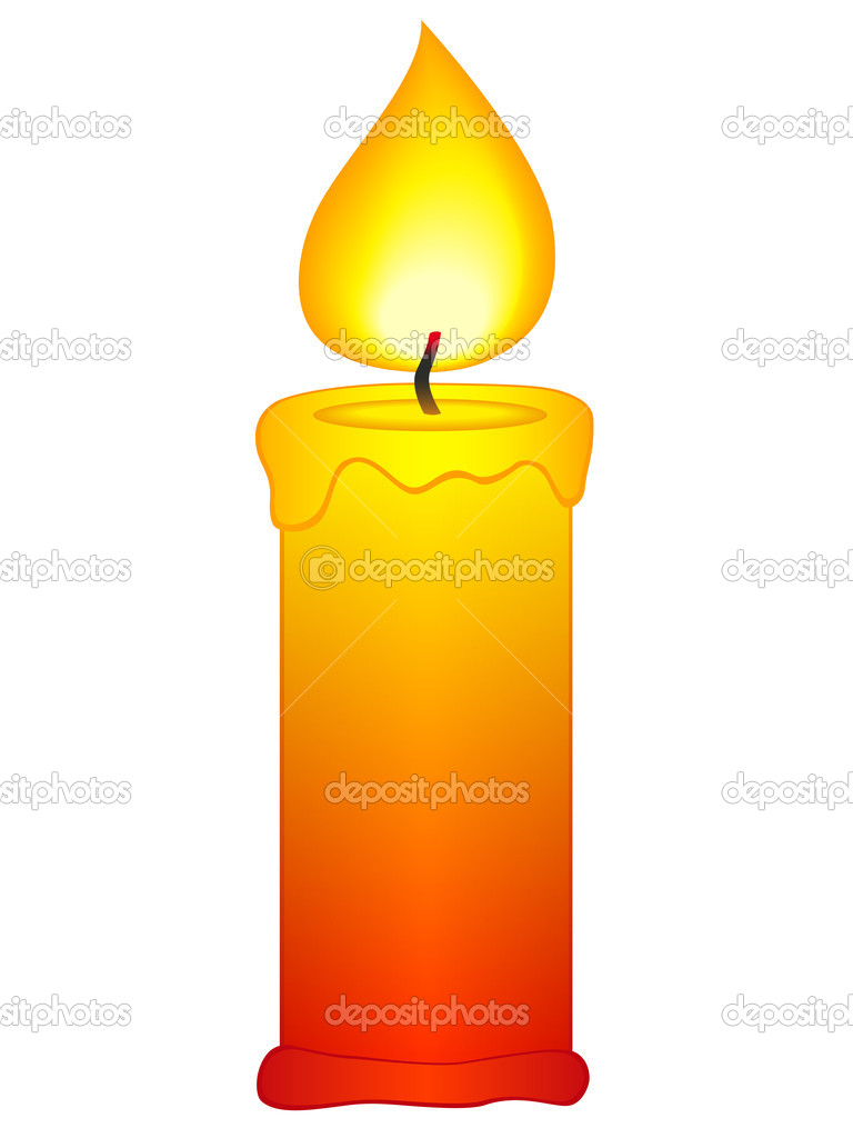 Candle icon on a white background — ベクター素材ストック #10040320