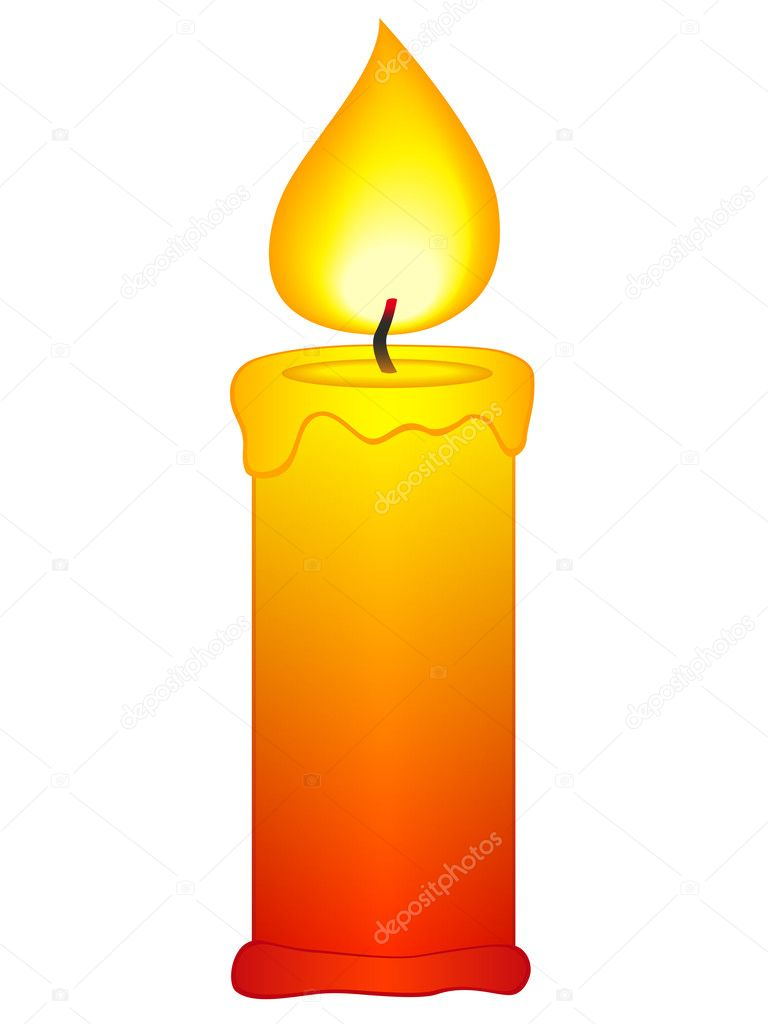 Candle icon on a white background — Image vectorielle #10040320