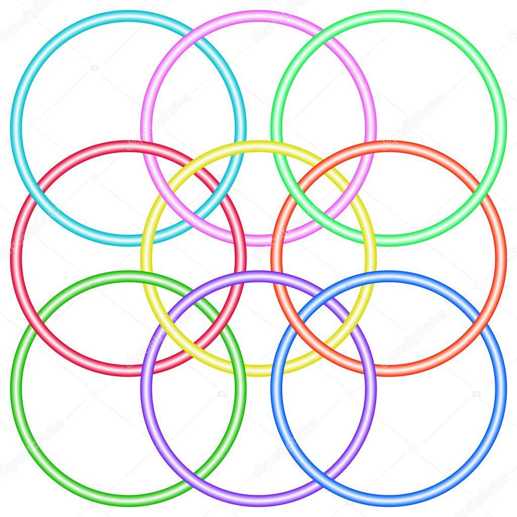 схема переплетенные кольца вышивка