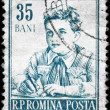 Royalty-Free Stock Photo: ROMANIA - CIRCA 1955 Pioneer