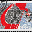 Постер, плакат: USSR CIRCA 1967 Cup and Bicyclists