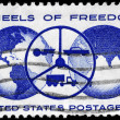 USA - CIRCA 1960 Wheels of Freedom — Stock Photo