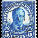 ������, ������: USA CIRCA 1922 Theodore Roosevelt