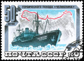 USSR - CIRCA 1984 Tchelyuskin Arctic Expedition — Stock Photo