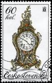 CZECHOSLOVAKIA - CIRCA 1979 Clock — Stock Photo