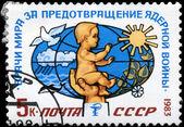 USSR - CIRCA 1983 Peace — Stock Photo