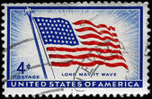 USA - CIRCA 1957 Old Glory — Stock Photo
