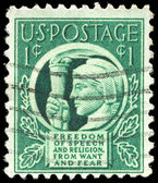 USA - CIRCA 1942 Liberty Holding Torch — Stock Photo