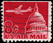USA - CIRCA 1962 Airliner Over Capitol — Stock Photo