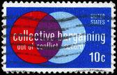 USA - CIRCA 1975 Collective Bargaining — Stock Photo