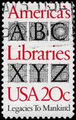USA - CIRCA 1982 Libraries — Stock Photo