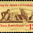 USA - CIRCA 1977 Articles of Confederation — Stock Photo