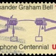 USA - CIRCA 1976 Telephone Centenary — Stock Photo