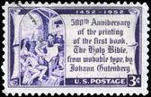 Usa - cca 1952 Gutenbergova bible — Stock fotografie