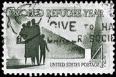 USA - CIRCA 1960 World Refugee — Stock Photo