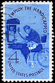 USA - CIRCA 1960 Employ the Handicapped — Stock Photo
