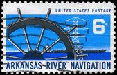 USA - CIRCA 1968 Ship Wheel — Stock Photo