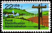 USA - CIRCA 1985 Rural Electrification — Foto Stock